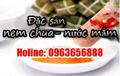 Đặc sản nem chua - nước mắm cá cơm tại Sầm Sơn